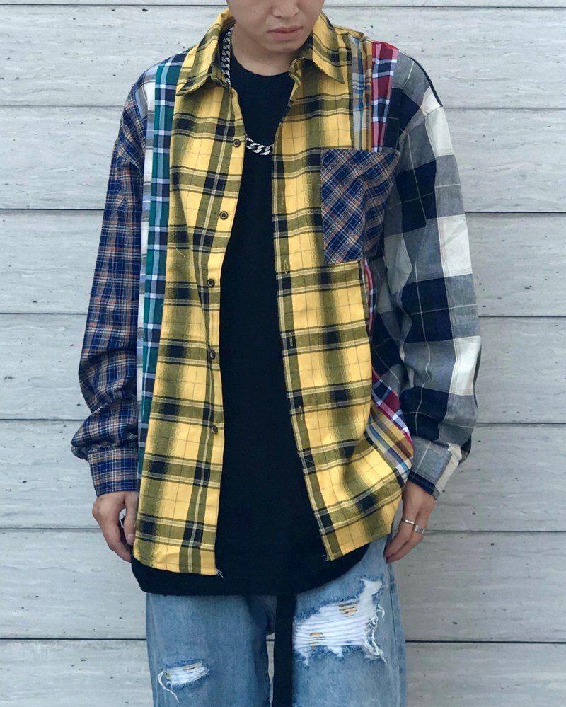《2色》マルチカラーチェックシャツの画像1
